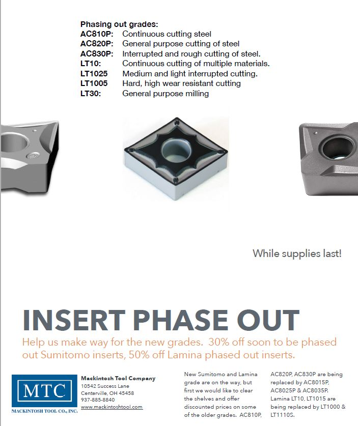 Phase out Inserts