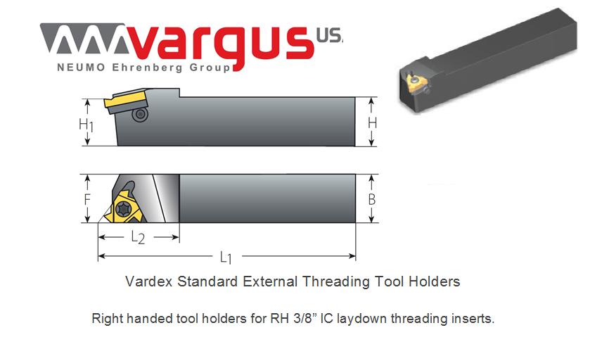 OAL: 6.0 RH MGD: .230 Insert Used: 43/_ Center Height: 1.250 MTVO-A R//L Threading Toolholders MTVOR20-4D-A